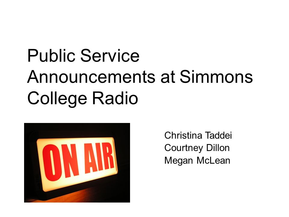 Public Service Announcements at Simmons College Radio