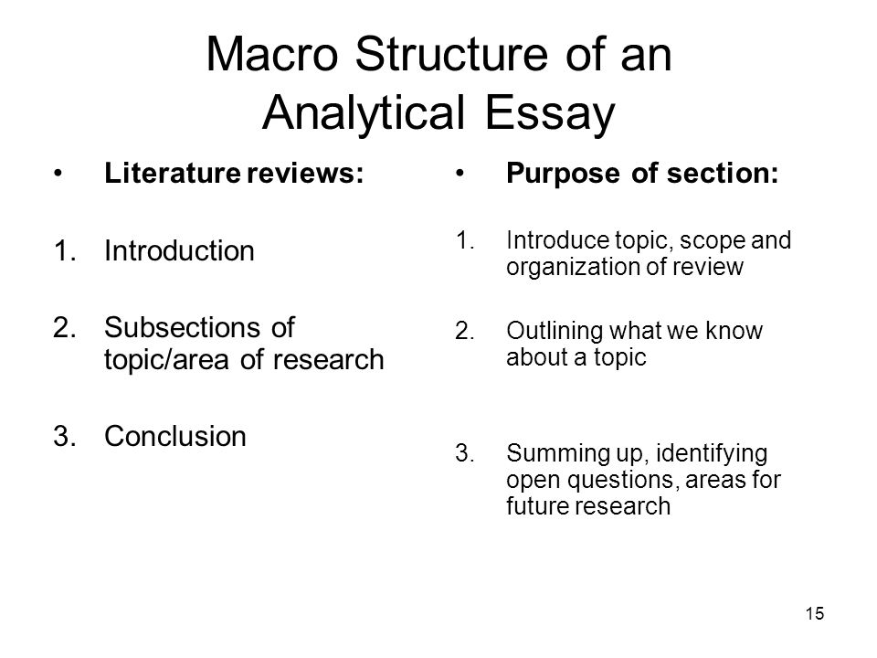 Yellow Wallpaper Essays Macro Structure Of An Analytical Essay English Extended Essay Topics also Essay My Family English The Analytical Essay  Ppt Video Online Download English As A World Language Essay