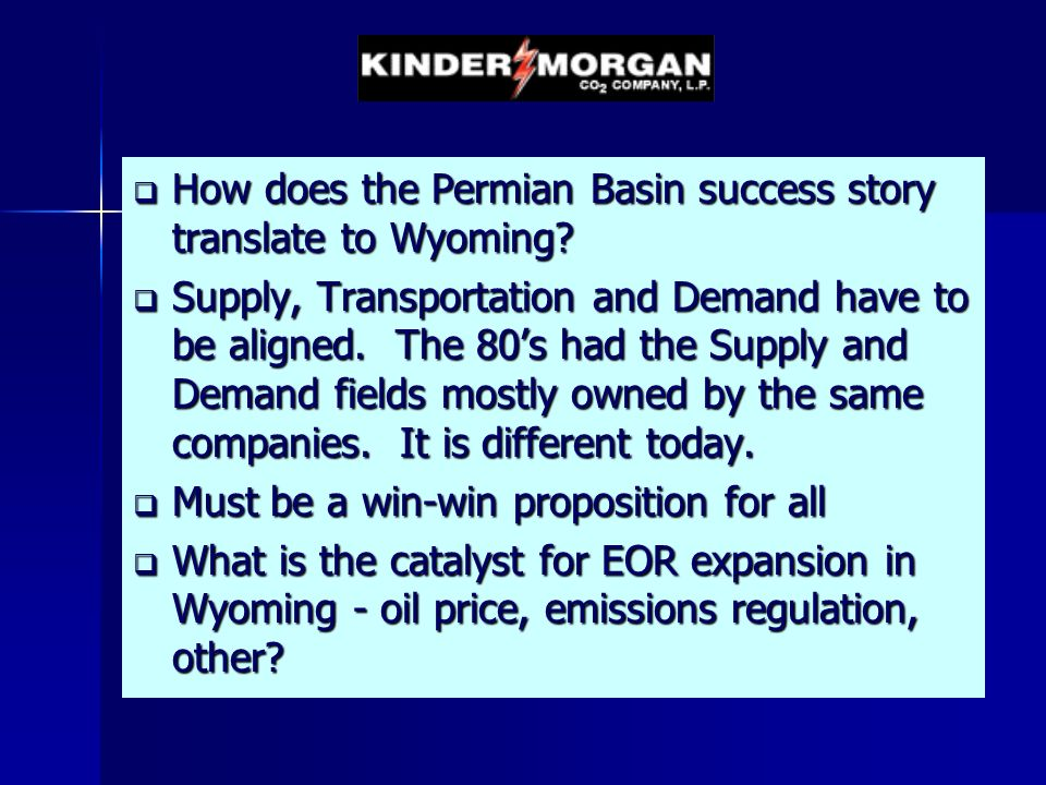 How does the Permian Basin success story translate to Wyoming