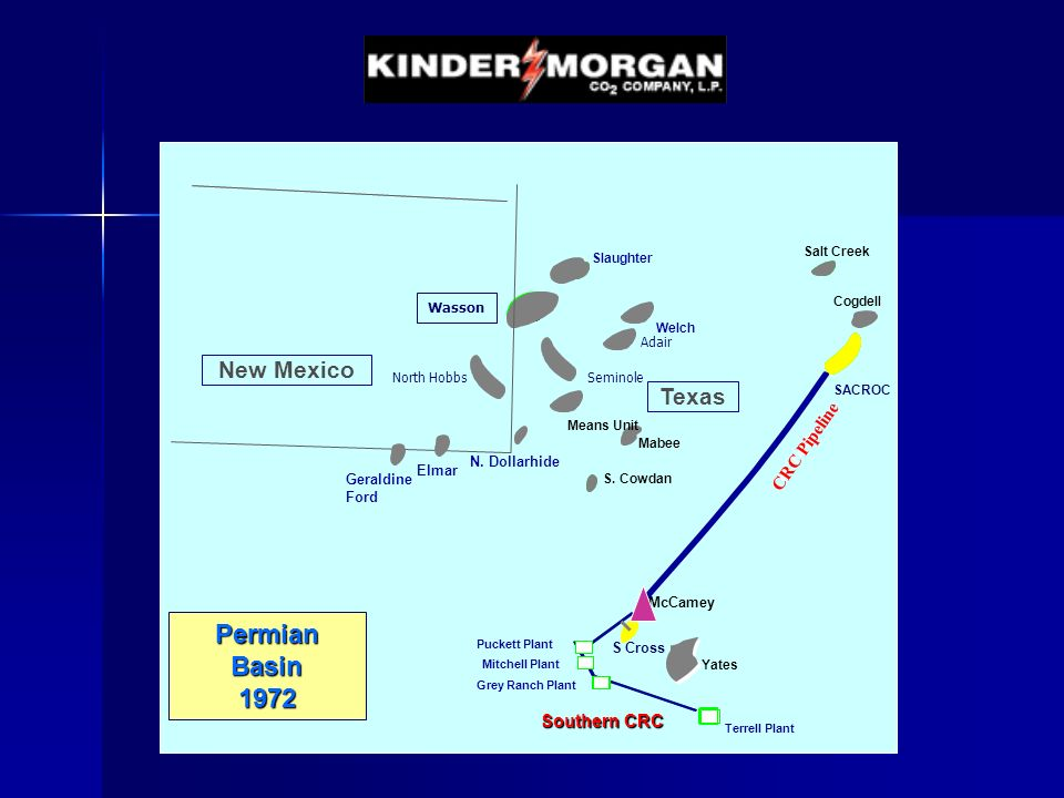 Permian Basin 1972 New Mexico Texas CRC Pipeline