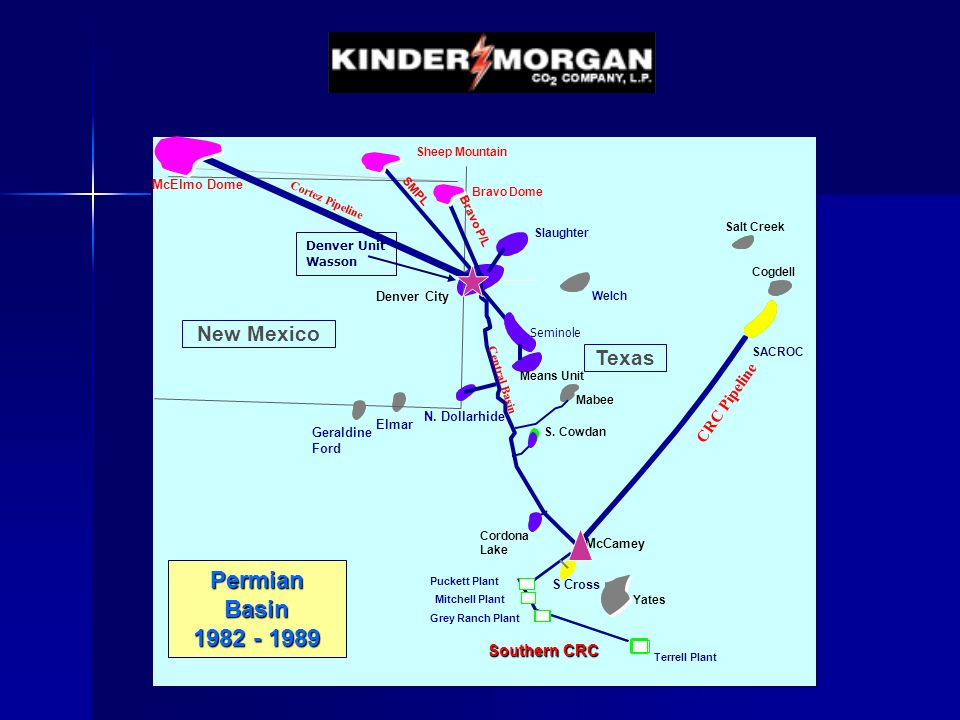 Permian Basin 1982 - 1989 New Mexico Texas CRC Pipeline