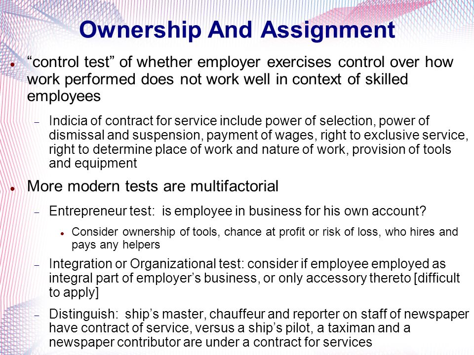 Ownership And Assignment