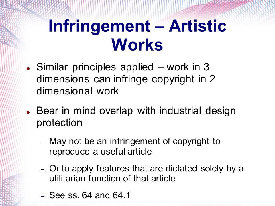 Infringement – Artistic Works