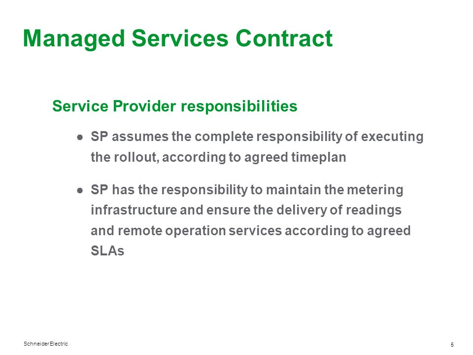 Managed Services Contract