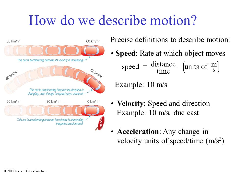 How do we describe motion