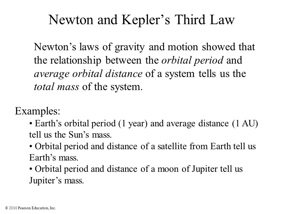 Newton and Kepler's Third Law