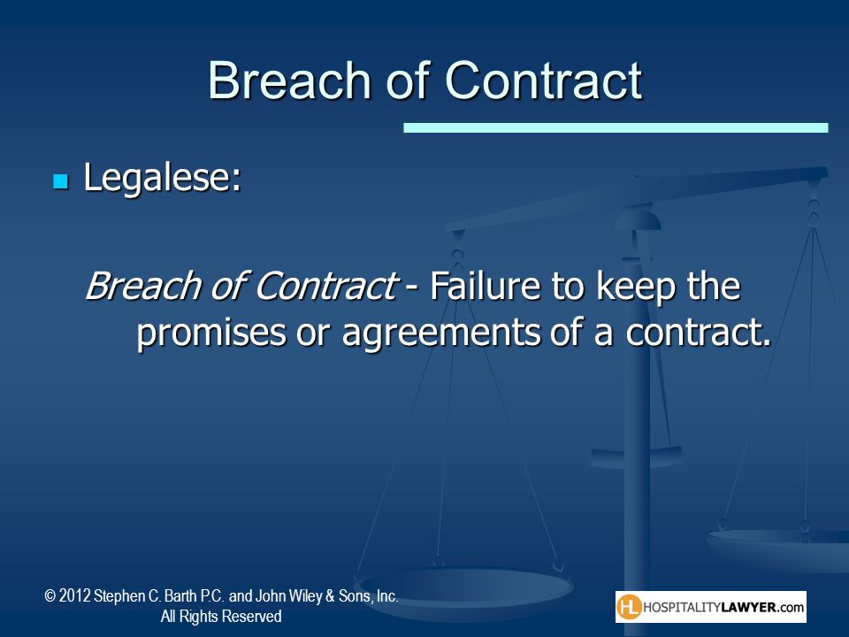 Breach of Contract Legalese: