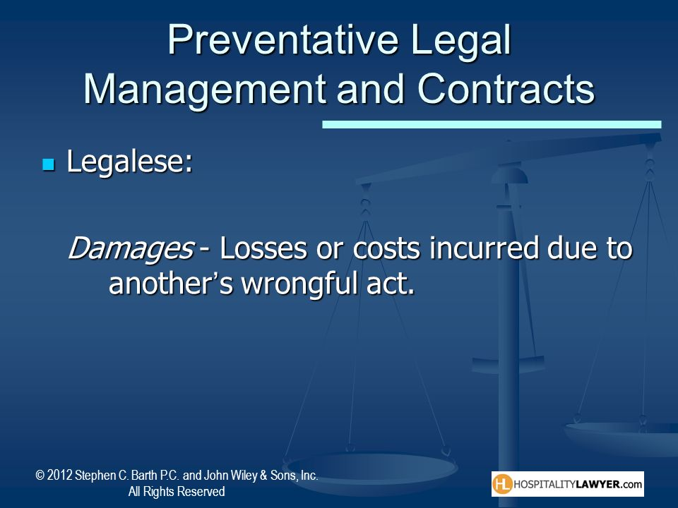 Preventative Legal Management and Contracts