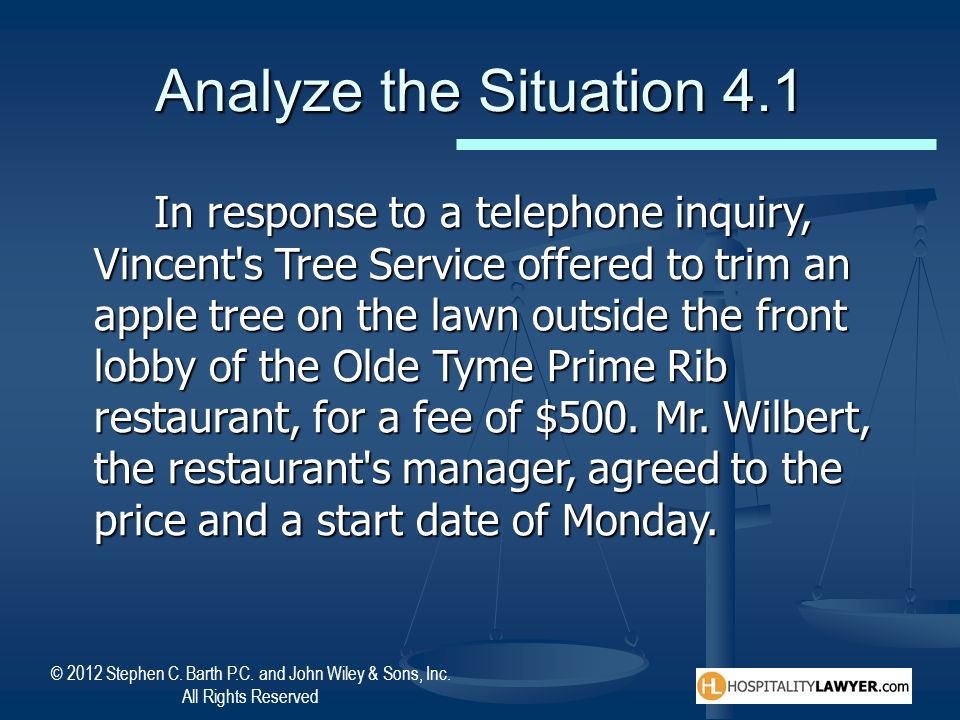 Analyze the Situation 4.1