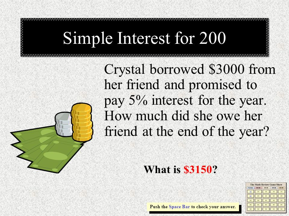Simple Interest for 200