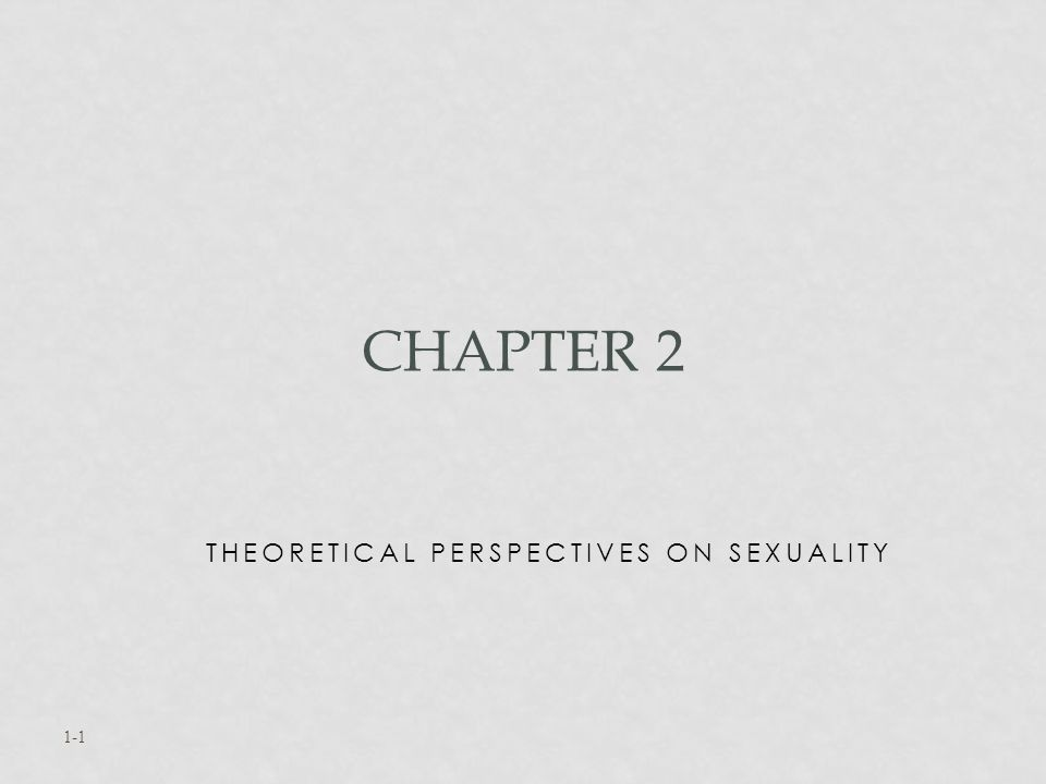 Theoretical Perspectives on Sexuality