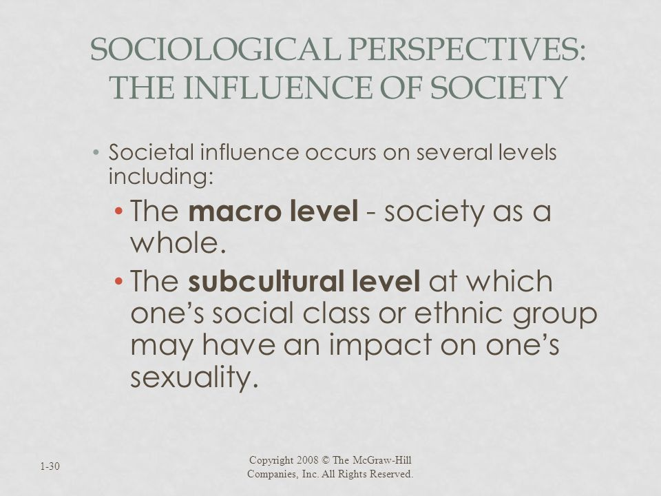 Sociological Perspectives: The Influence of Society