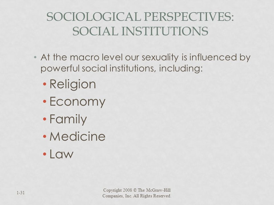 Sociological Perspectives: Social Institutions