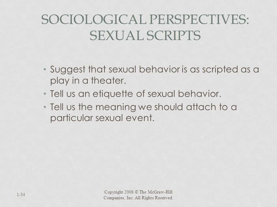 Sociological Perspectives: Sexual Scripts