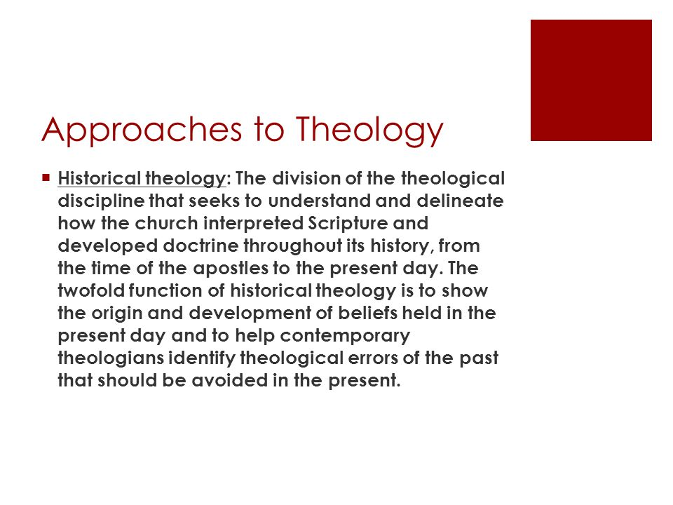 Approaches to Theology