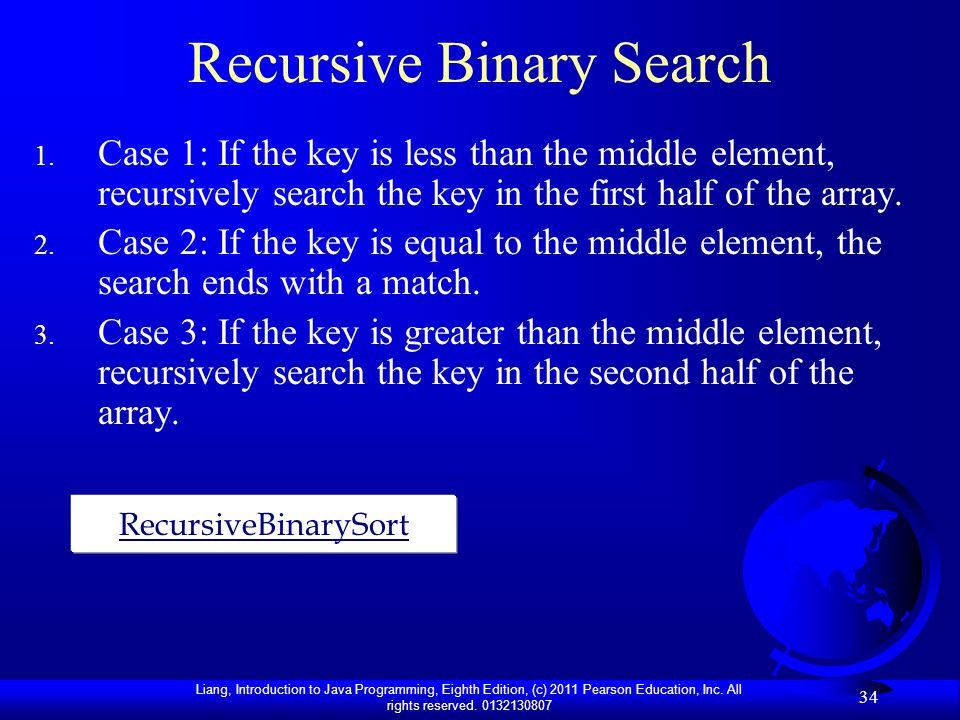 Recursive Binary Search