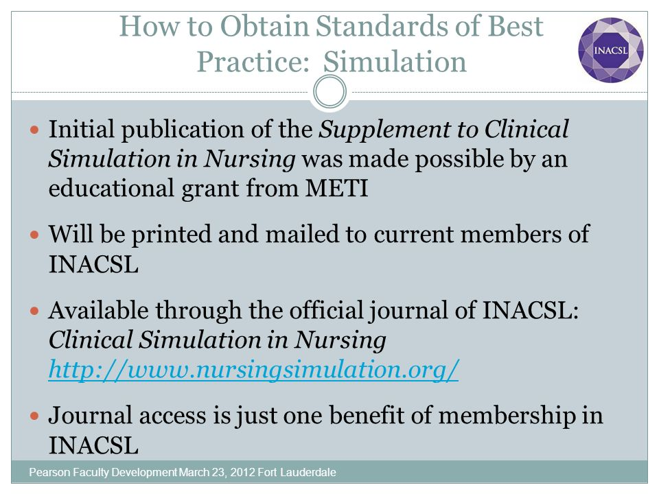 How to Obtain Standards of Best Practice: Simulation