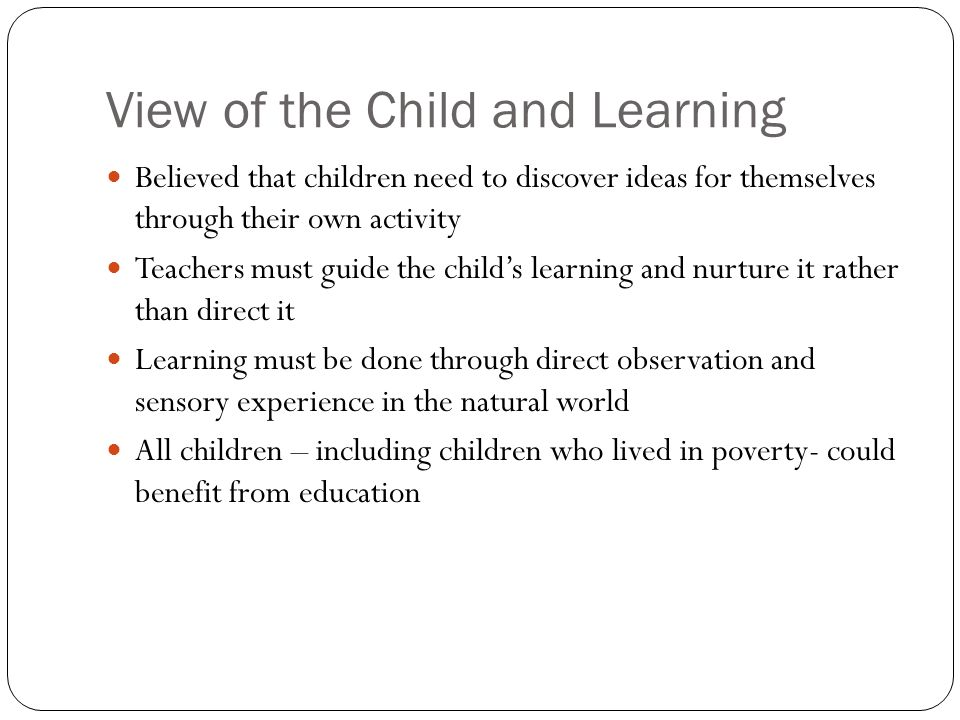 View of the Child and Learning