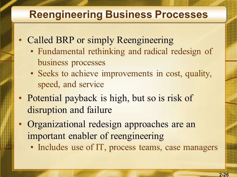 Reengineering Business Processes