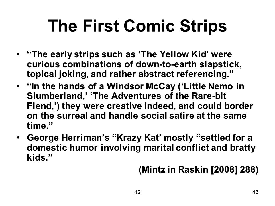 The First Comic Strips
