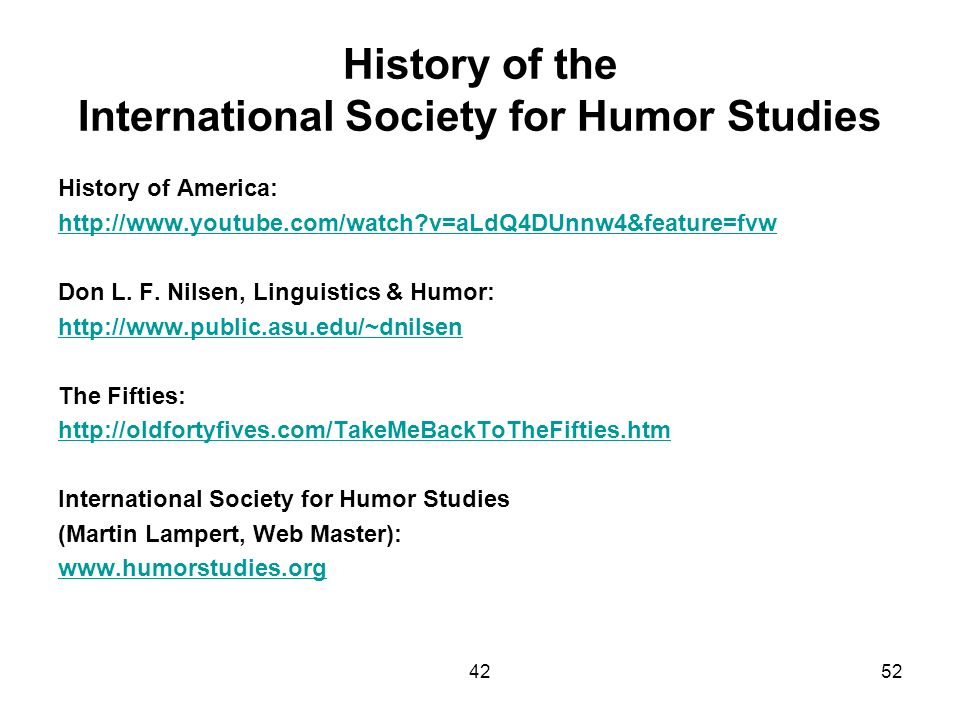 History of the International Society for Humor Studies