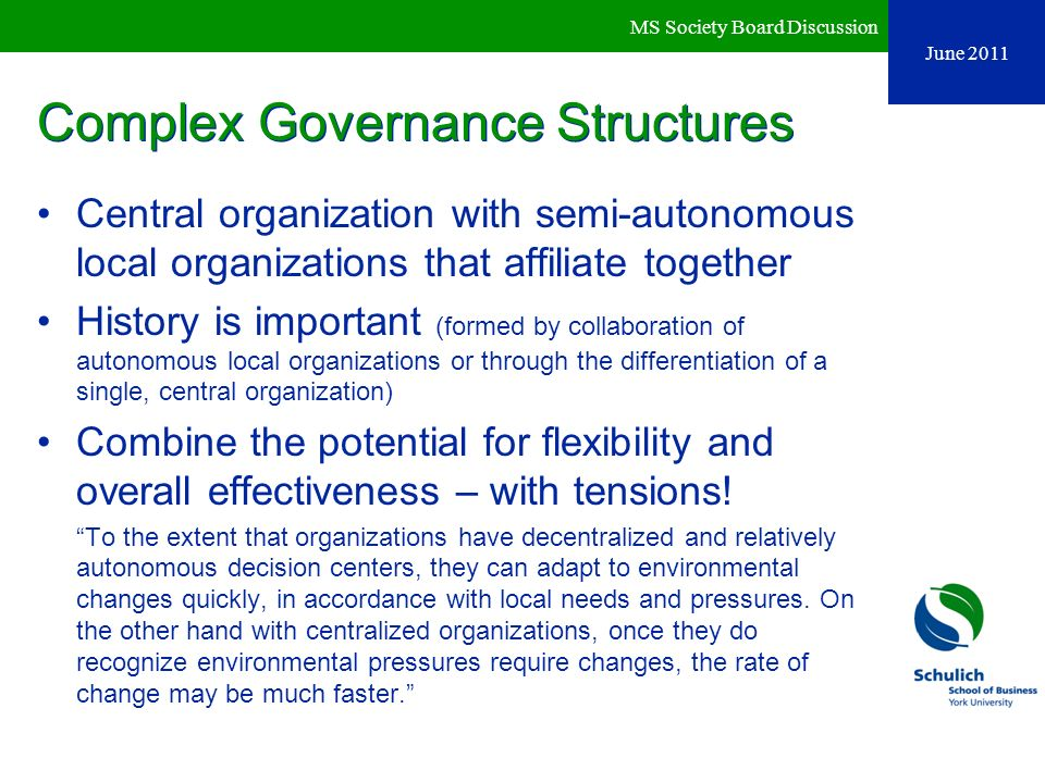 Complex Governance Structures