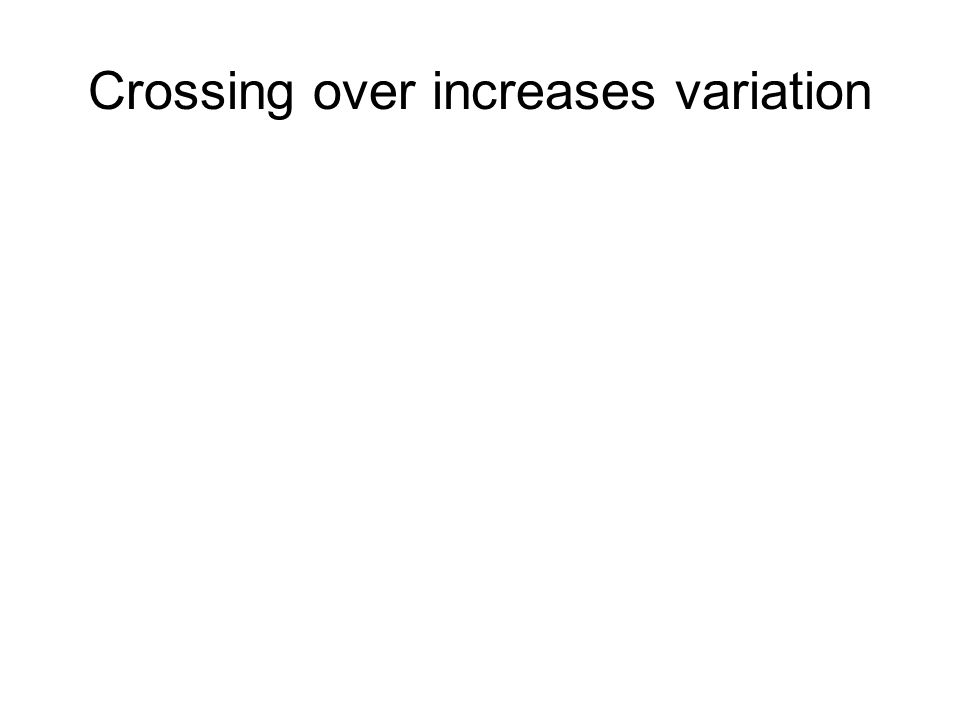 Crossing over increases variation