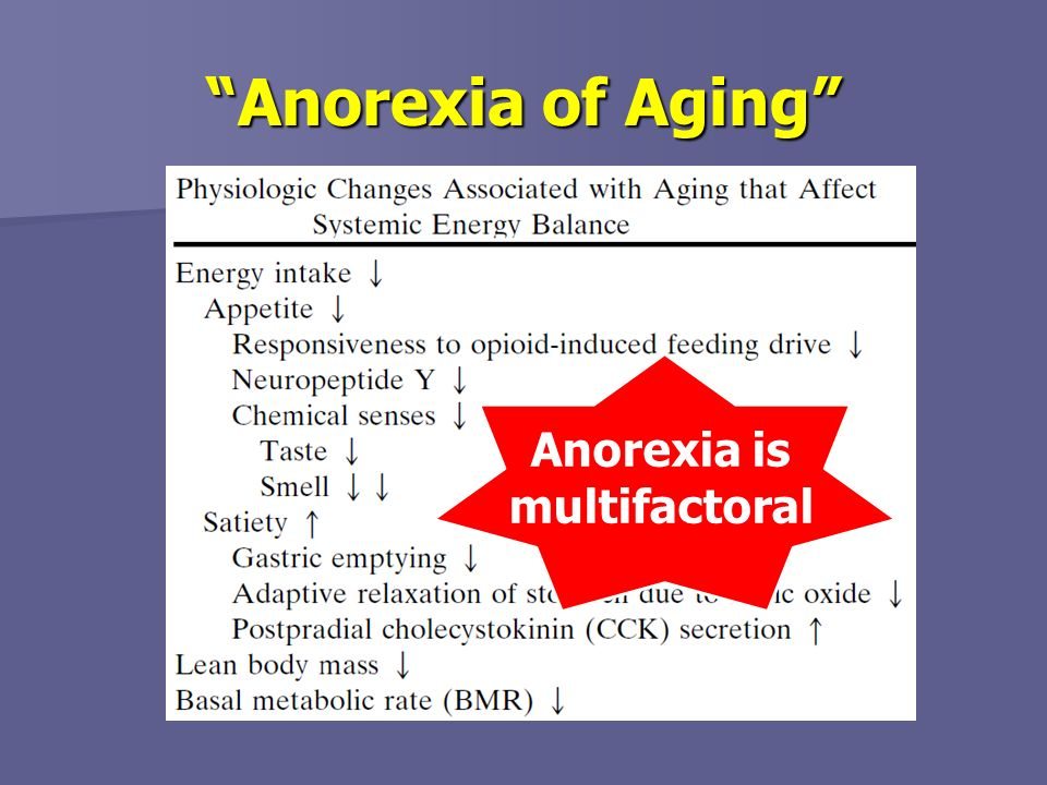 Anorexia is multifactoral
