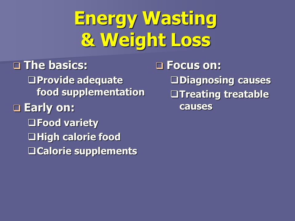 Energy Wasting & Weight Loss