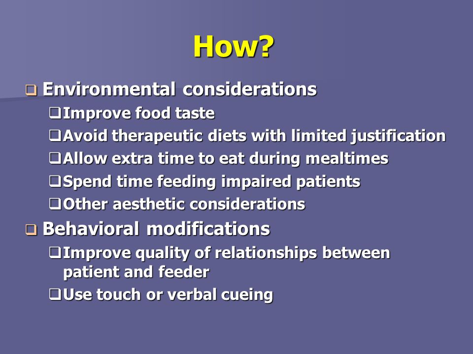 How Environmental considerations Behavioral modifications