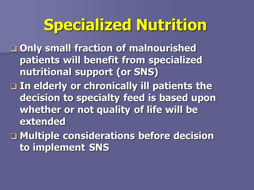 Specialized Nutrition