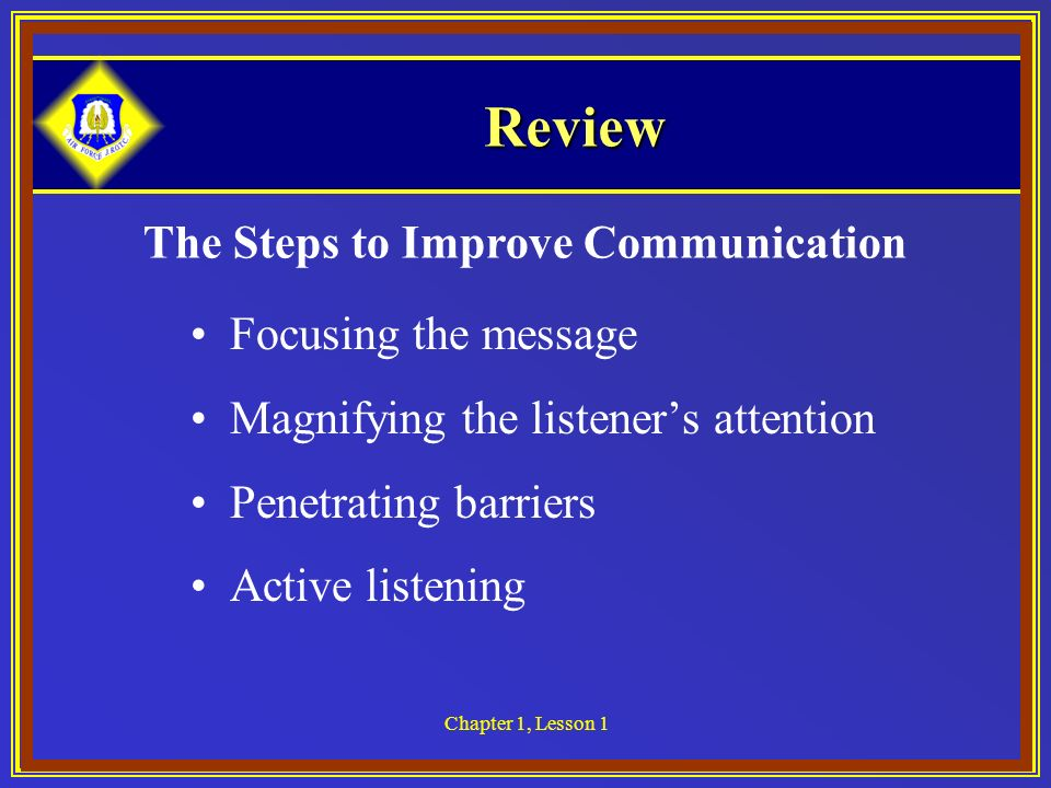 The Steps to Improve Communication