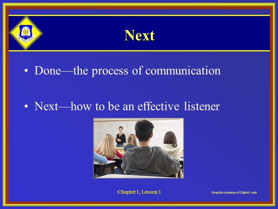 Next Done—the process of communication