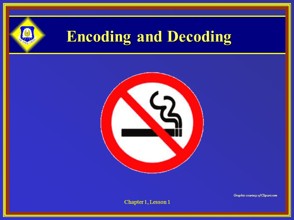 Encoding and Decoding Chapter 1, Lesson 1