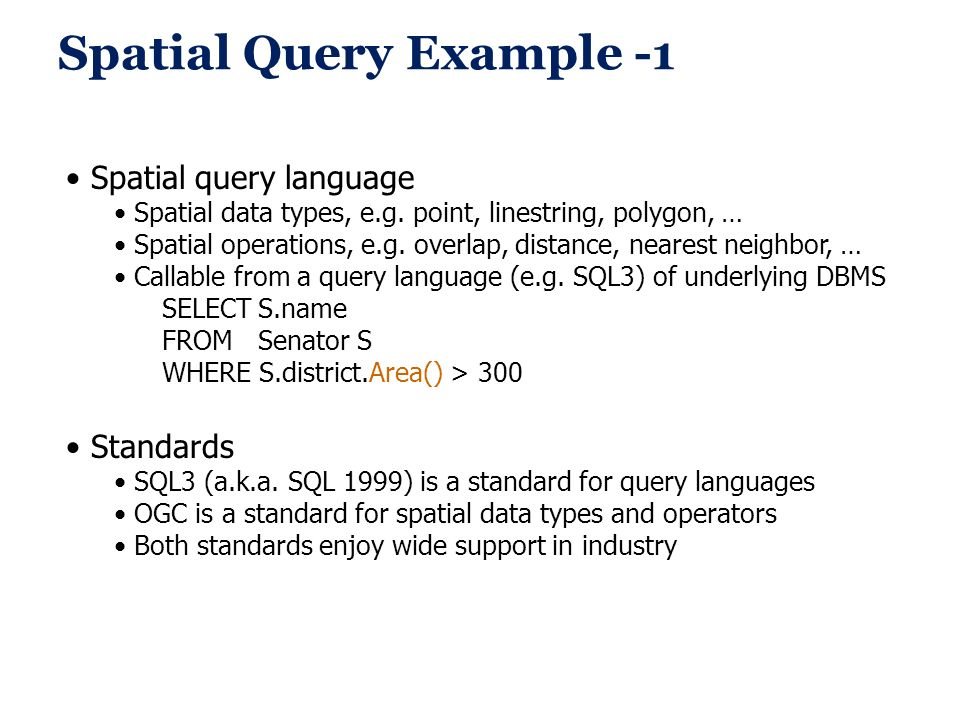 Spatial Query Example -1