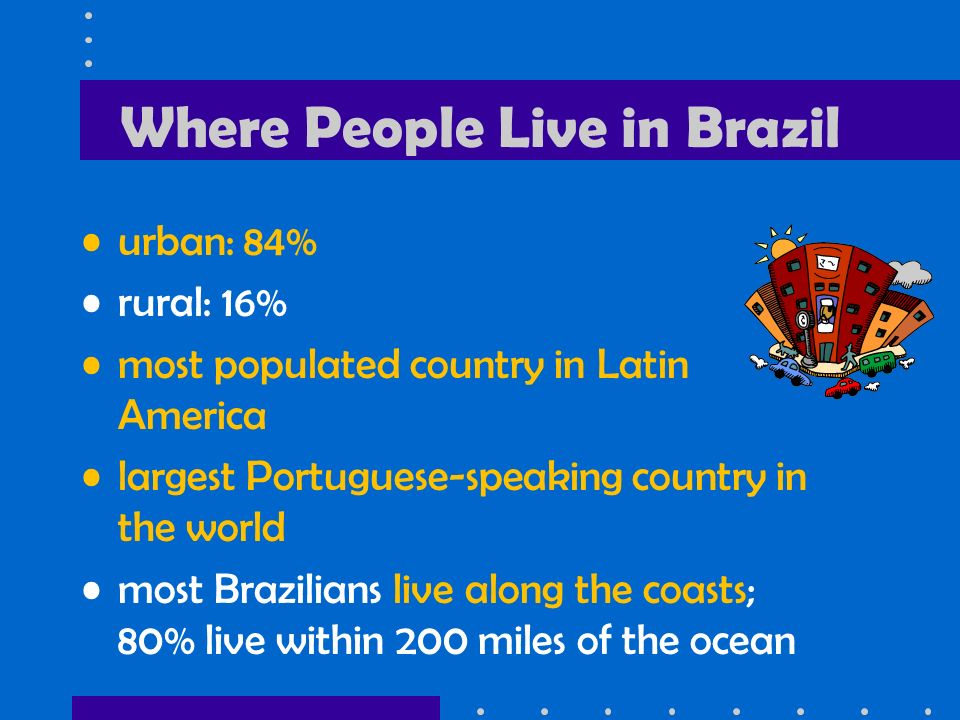 Where People Live in Brazil
