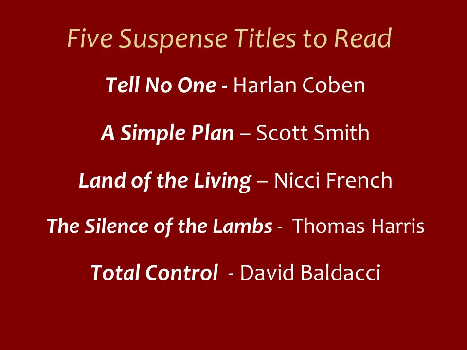 Five Suspense Titles to Read