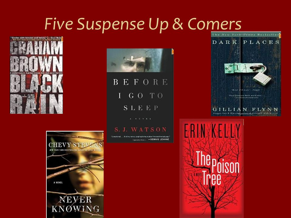 Five Suspense Up & Comers