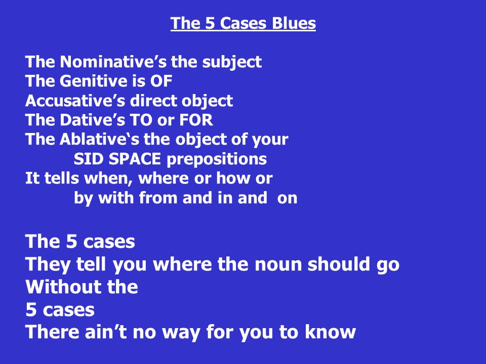 The 5 Cases Blues