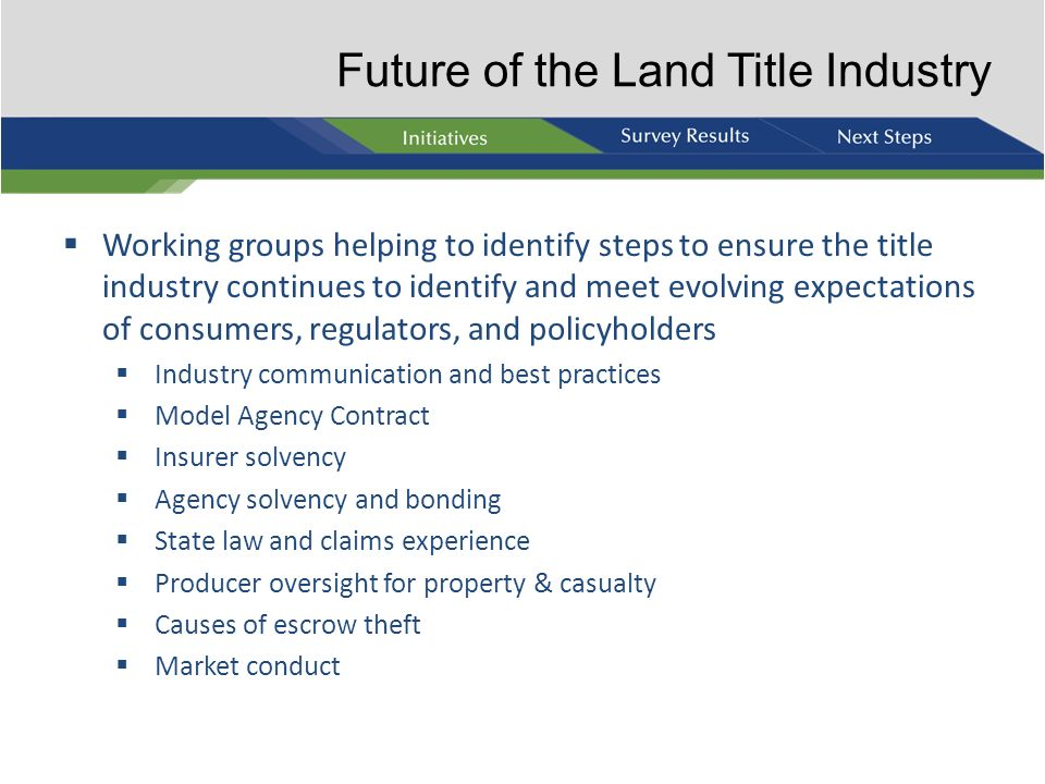Future of the Land Title Industry