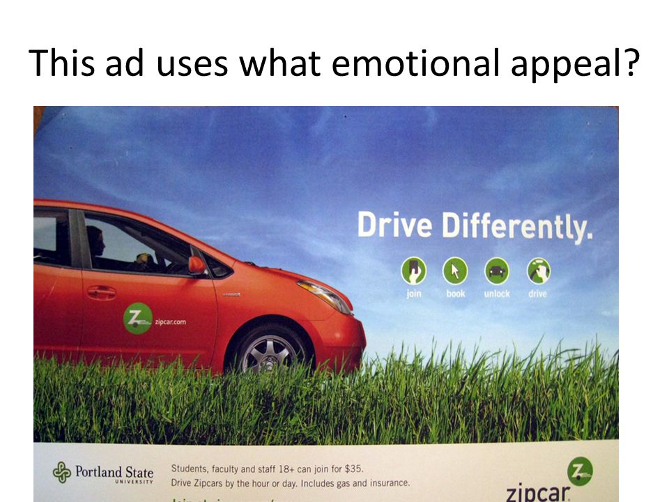 This ad uses what emotional appeal
