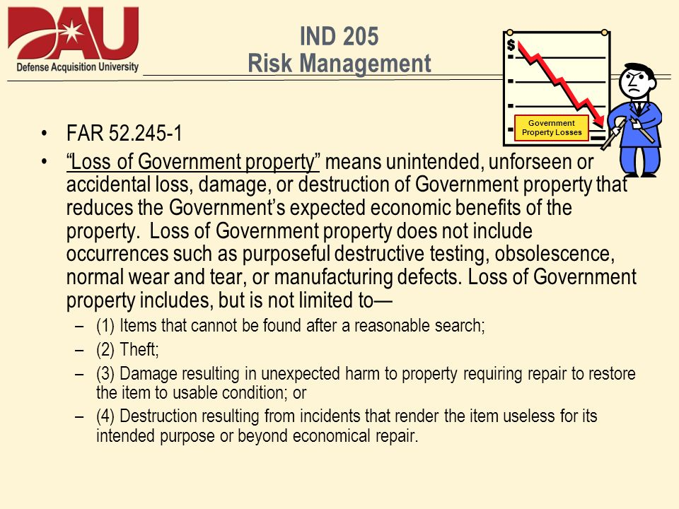 Government Property Losses
