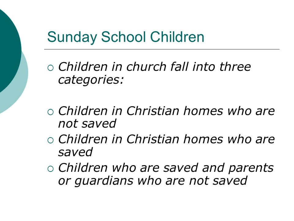 Sunday School Children