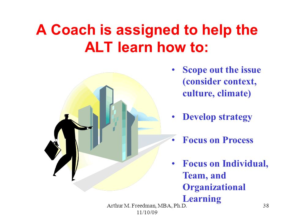 A Coach is assigned to help the ALT learn how to: