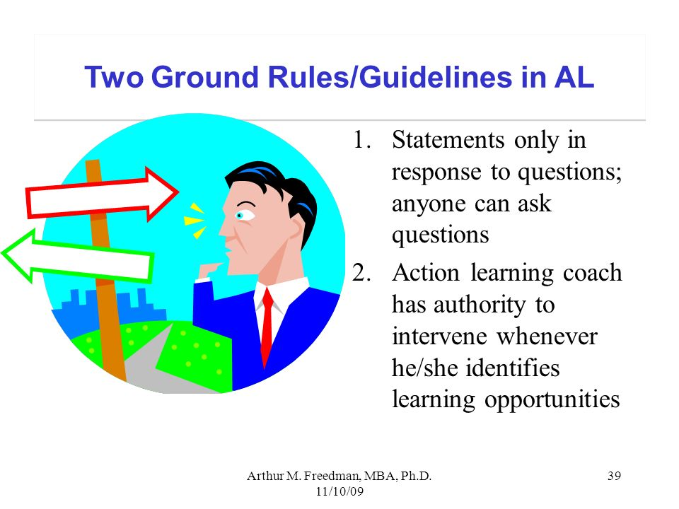 Two Ground Rules/Guidelines in AL