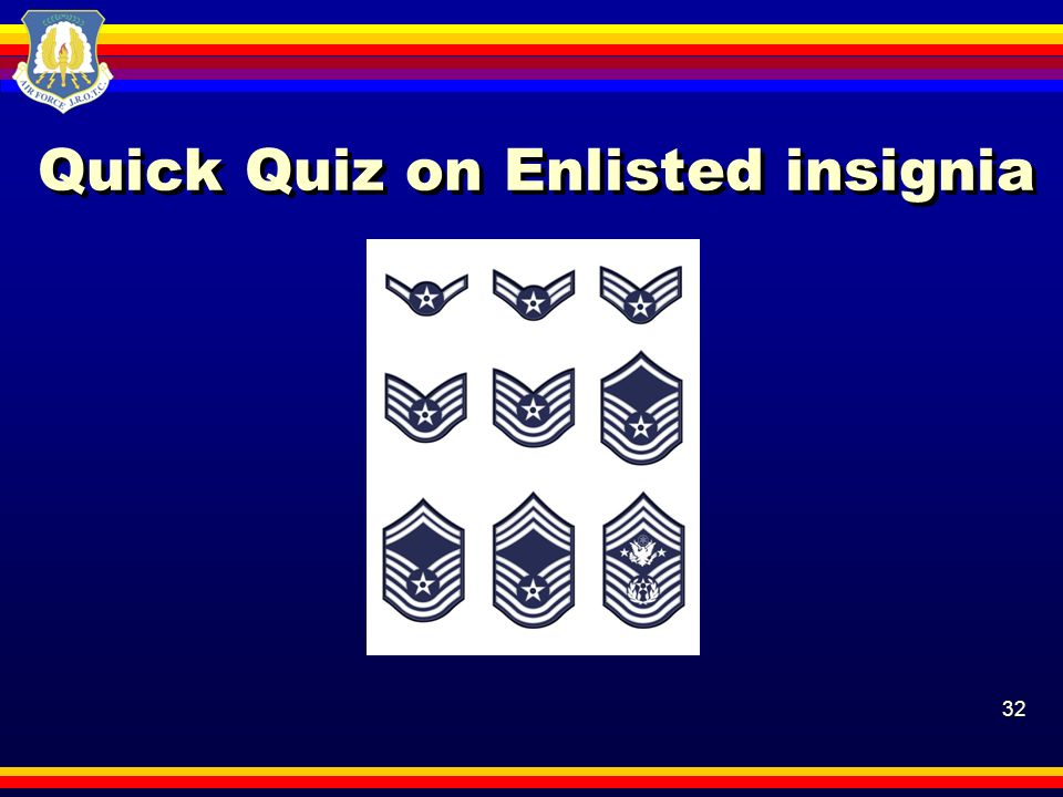 Quick Quiz on Enlisted insignia