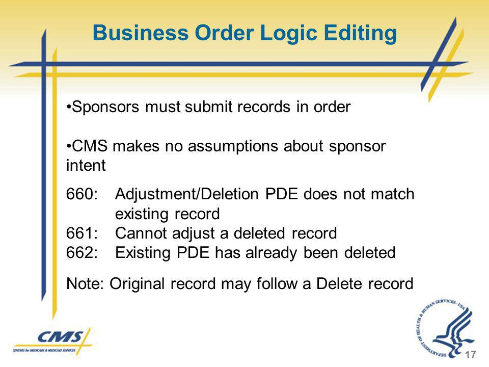 Business Order Logic Editing