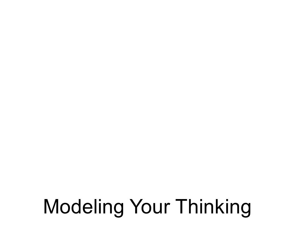 Modeling Your Thinking