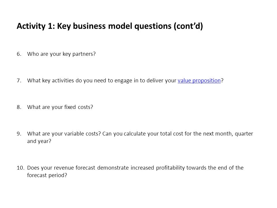 Workbook 2 business model design workbook template ppt download activity 1 key business model questions contd accmission Choice Image