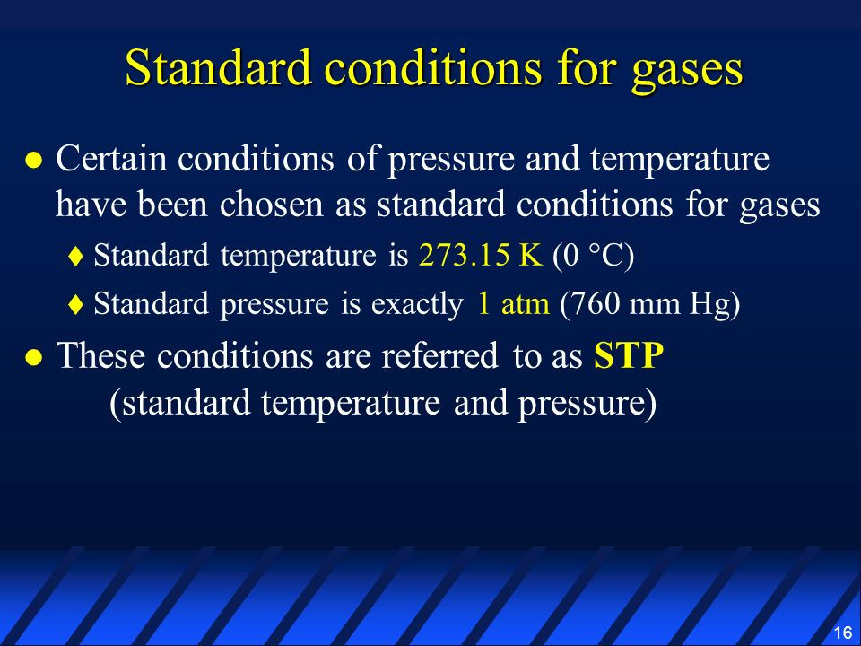 Standard conditions for gases